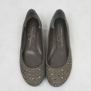 NWOT Jessica Simpson gray flats